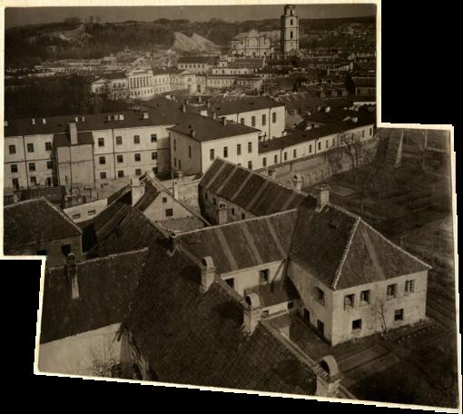 J. Bułhak. Vilnius iš Šv. Kotrynos bažnyčios varpinės. 1912-1913
