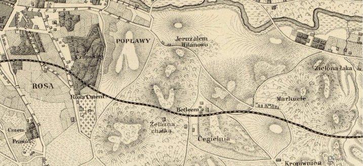1881 m. Vilniaus plano fragmentas